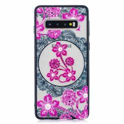 Daffodil Lace Diamond Flower Soft TPU Back Cover for Samsung Galaxy S10 (6.1 inch)