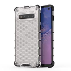 Honeycomb TPU + PC Hybrid Armor Shockproof Case Cover for Samsung Galaxy S10 (6.1 inch) - Transparent