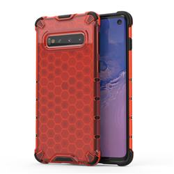 Honeycomb TPU + PC Hybrid Armor Shockproof Case Cover for Samsung Galaxy S10 (6.1 inch) - Red