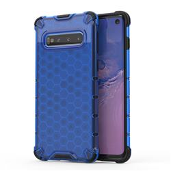 Honeycomb TPU + PC Hybrid Armor Shockproof Case Cover for Samsung Galaxy S10 (6.1 inch) - Blue