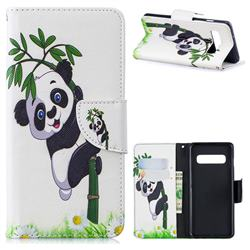 Bamboo Panda Leather Wallet Case for Samsung Galaxy S10 (6.1 inch)