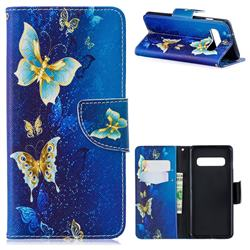 Golden Butterflies Leather Wallet Case for Samsung Galaxy S10 (6.1 inch)