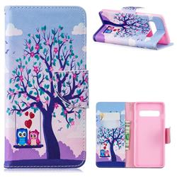 Tree and Owls Leather Wallet Case for Samsung Galaxy S10 (6.1 inch)