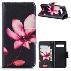 Lotus Flower Leather Wallet Case for Samsung Galaxy S10 (6.1 inch)