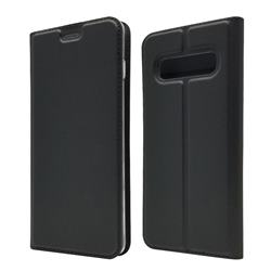 Ultra Slim Card Magnetic Automatic Suction Leather Wallet Case for Samsung Galaxy S10 (6.1 inch) - Star Grey