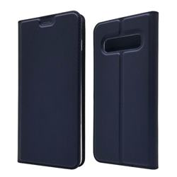Ultra Slim Card Magnetic Automatic Suction Leather Wallet Case for Samsung Galaxy S10 (6.1 inch) - Royal Blue