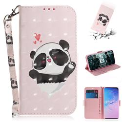 Heart Cat 3D Painted Leather Wallet Phone Case for Samsung Galaxy S10 (6.1 inch)
