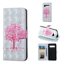 Sakura Flower Tree 3D Painted Leather Phone Wallet Case for Samsung Galaxy S10 (6.1 inch)