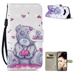 Love Panda 3D Painted Leather Wallet Phone Case for Samsung Galaxy S10 (6.1 inch)
