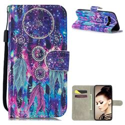 Star Wind Chimes 3D Painted Leather Wallet Phone Case for Samsung Galaxy S10 (6.1 inch)