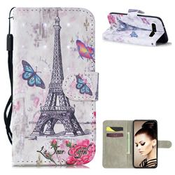 Paris Tower 3D Painted Leather Wallet Phone Case for Samsung Galaxy S10 (6.1 inch)