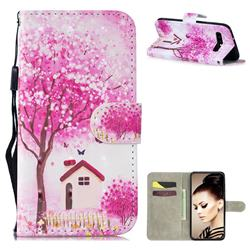 Tree House 3D Painted Leather Wallet Phone Case for Samsung Galaxy S10 (6.1 inch)