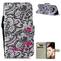 Lace Flower 3D Painted Leather Wallet Phone Case for Samsung Galaxy S10 (6.1 inch)