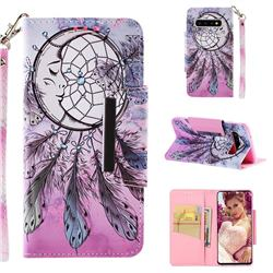 Angel Monternet Big Metal Buckle PU Leather Wallet Phone Case for Samsung Galaxy S10 (6.1 inch)
