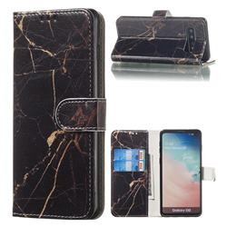 Black Gold Marble PU Leather Wallet Case for Samsung Galaxy S10 (6.1 inch)