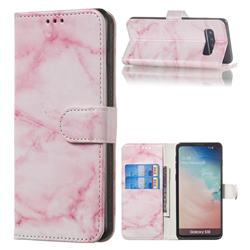 Pink Marble PU Leather Wallet Case for Samsung Galaxy S10 (6.1 inch)