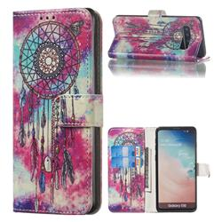 Butterfly Chimes PU Leather Wallet Case for Samsung Galaxy S10 (6.1 inch)