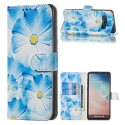 Orchid Flower PU Leather Wallet Case for Samsung Galaxy S10 (6.1 inch)