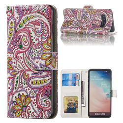 Pepper Flowers 3D Relief Oil PU Leather Wallet Case for Samsung Galaxy S10 (6.1 inch)