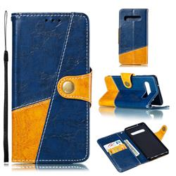 Retro Magnetic Stitching Wallet Flip Cover for Samsung Galaxy S10 (6.1 inch) - Blue