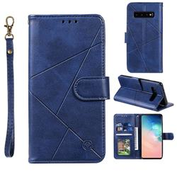Embossing Geometric Leather Wallet Case for Samsung Galaxy S10 (6.1 inch) - Blue