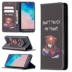 Chainsaw Bear Slim Magnetic Attraction Wallet Flip Cover for Samsung Galaxy S10 (6.1 inch)