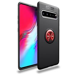 Auto Focus Invisible Ring Holder Soft Phone Case for Samsung Galaxy S10 5G (6.7 inch) - Black Red