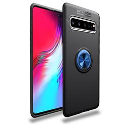 Auto Focus Invisible Ring Holder Soft Phone Case for Samsung Galaxy S10 5G (6.7 inch) - Black Blue