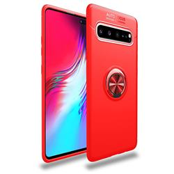 Auto Focus Invisible Ring Holder Soft Phone Case for Samsung Galaxy S10 5G (6.7 inch) - Red