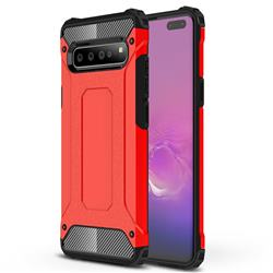 King Kong Armor Premium Shockproof Dual Layer Rugged Hard Cover for Samsung Galaxy S10 5G (6.7 inch) - Big Red