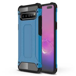 King Kong Armor Premium Shockproof Dual Layer Rugged Hard Cover for Samsung Galaxy S10 5G (6.7 inch) - Sky Blue