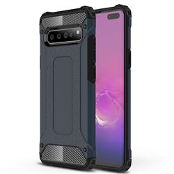 King Kong Armor Premium Shockproof Dual Layer Rugged Hard Cover for Samsung Galaxy S10 5G (6.7 inch) - Navy