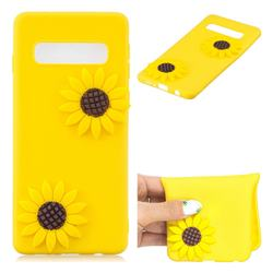 Yellow Sunflower Soft 3D Silicone Case for Samsung Galaxy S10 5G (6.7 inch)