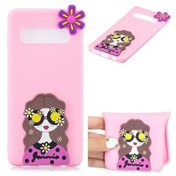 Violet Girl Soft 3D Silicone Case for Samsung Galaxy S10 5G (6.7 inch)