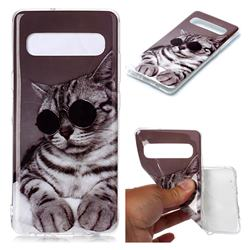 Kitten with Sunglasses Soft TPU Cell Phone Back Cover for Samsung Galaxy S10 5G (6.7 inch)