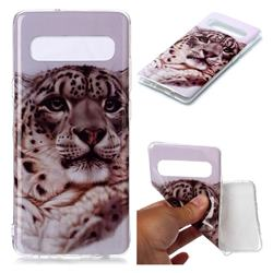 White Leopard Soft TPU Cell Phone Back Cover for Samsung Galaxy S10 5G (6.7 inch)