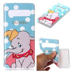 Dumbo Elephant Soft TPU Cell Phone Back Cover for Samsung Galaxy S10 5G (6.7 inch)