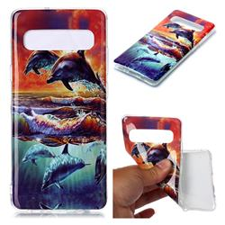 Flying Dolphin Soft TPU Cell Phone Back Cover for Samsung Galaxy S10 5G (6.7 inch)