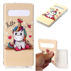 Hello Unicorn Soft TPU Cell Phone Back Cover for Samsung Galaxy S10 5G (6.7 inch)