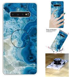 Sea Blue Marble Pop Stand Holder Varnish Phone Cover for Samsung Galaxy S10 5G (6.7 inch)