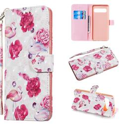 Flamingo 3D Painted Leather Wallet Phone Case for Samsung Galaxy S10 5G (6.7 inch)