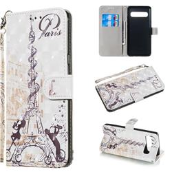 Tower Couple 3D Painted Leather Wallet Phone Case for Samsung Galaxy S10 5G (6.7 inch)