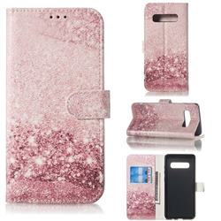 Glittering Rose Gold PU Leather Wallet Case for Samsung Galaxy S10 5G (6.7 inch)