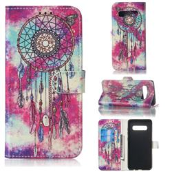 Butterfly Chimes PU Leather Wallet Case for Samsung Galaxy S10 5G (6.7 inch)