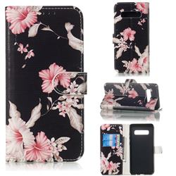 Azalea Flower PU Leather Wallet Case for Samsung Galaxy S10 5G (6.7 inch)