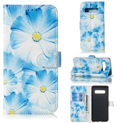 Orchid Flower PU Leather Wallet Case for Samsung Galaxy S10 5G (6.7 inch)