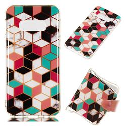 Three-dimensional Square Soft TPU Marble Pattern Phone Case for Samsung Galaxy S10 Lite(5.8 inch)