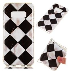Black and White Matching Soft TPU Marble Pattern Phone Case for Samsung Galaxy S10e(5.8 inch)