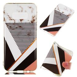 Pinstripe Soft TPU Marble Pattern Phone Case for Samsung Galaxy S10e(5.8 inch)