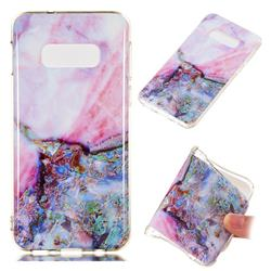 Purple Amber Soft TPU Marble Pattern Phone Case for Samsung Galaxy S10 Lite(5.8 inch)